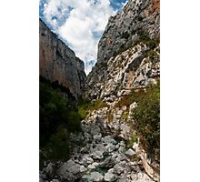 Into the Canyon - Grand Canyon du Verdon Photographic Print