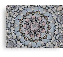 Stone Heart Circle Canvas Print