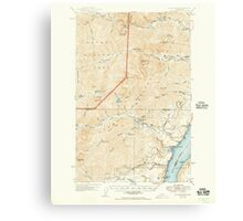 USGS Topo Map Washington State WA The Brothers 244243 1950 62500 Canvas Print