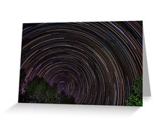 Star Trails #1 Greeting Card