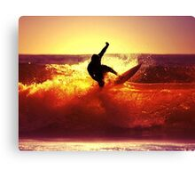Catching Waves surf Canvas Print