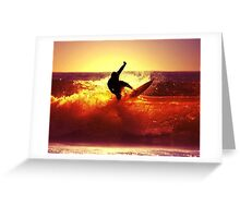 Catching Waves surf Greeting Card
