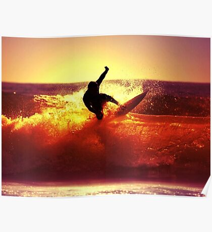 Catching Waves surf Poster