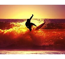 Catching Waves surf Photographic Print