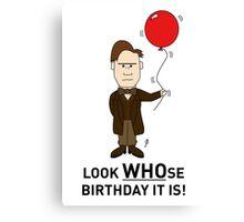 A Doctor Who themed Birthday Card 2 Canvas Print
