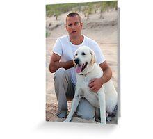 PBN Portrait 17 Greeting Card