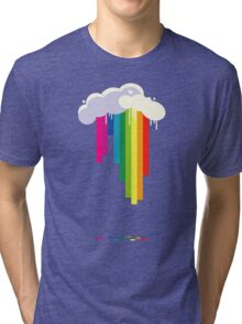 Raining Rainbows Tri-blend T-Shirt
