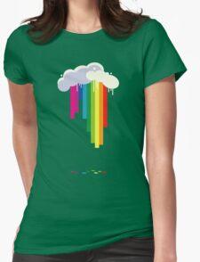 Raining Rainbows Womens Fitted T-Shirt