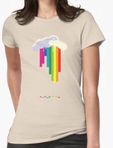 Raining Rainbows Womens Fitted T-Shirt