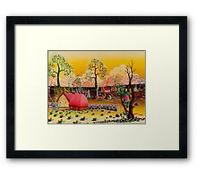 WORK IN THE FIELDS Framed Print