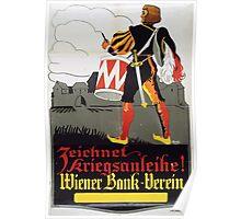 Zeichnet Kriegsanleihe! Wiener Bank Verein 1481 Poster