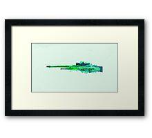 CS:GO Dragon Lore AWP Green Framed Print