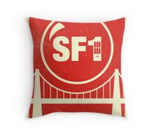 Redbubble SF1 Minimalist Poster Throw Pillow