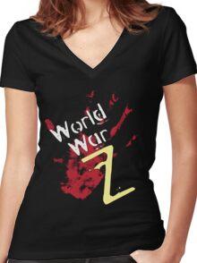 World War Z T-Shirt 2 Women's Fitted V-Neck T-Shirt