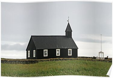 Black Icelandic church at Budir  by Grace Johnson