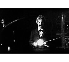 Twain & Tesla Photographic Print