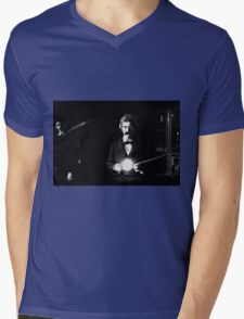 Twain & Tesla Mens V-Neck T-Shirt