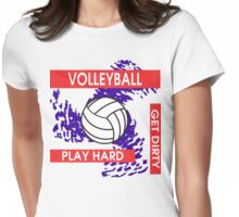 Volleyball Play Hard Get Dirty Womens Fitted T-Shirt