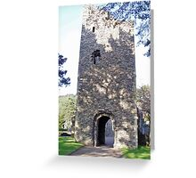 Cross Kirk 12th century monastery Peebles Scotland  Greeting Card