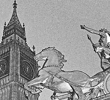 Big Ben And Boadicea by DavidHornchurch