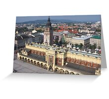 Krakow Skyline Greeting Card