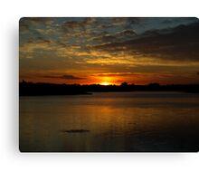 Quarry Sunset Canvas Print