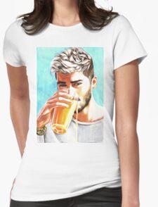 Zayn-Orange Juice Womens Fitted T-Shirt