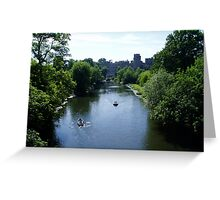 Warwick castle and the river Avon Greeting Card