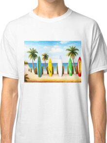 Surfboards on the beach Classic T-Shirt