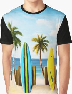 Surfboards on the beach Graphic T-Shirt