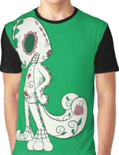 Treecko Pokemuerto | Pokemon & Day of The Dead Mashup Graphic T-Shirt