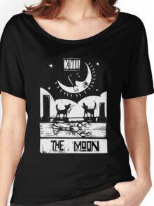 The Moon  - Tarot Cards - Major Arcana Women's Relaxed Fit T-Shirt