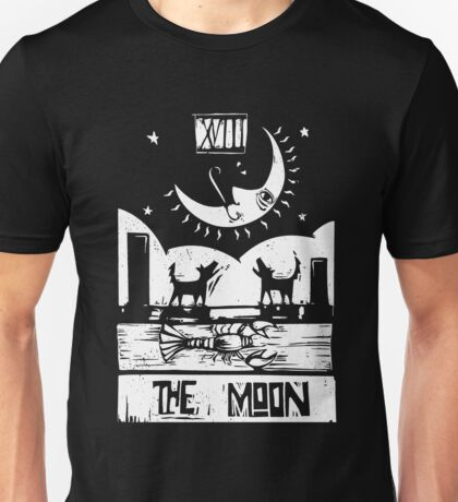 The Moon  - Tarot Cards - Major Arcana Unisex T-Shirt