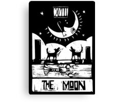 The Moon  - Tarot Cards - Major Arcana Canvas Print