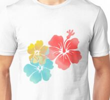 Hawaii Hibiscus, Orange, Yellow and Blue  Unisex T-Shirt