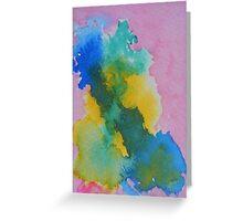 No Horizon Abstract Greeting Card