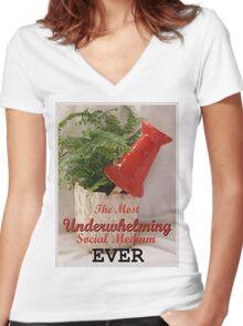 Pinterest - Most Underwhelming Social Medium EVER Women's Fitted V-Neck T-Shirt