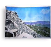 Mt Buffalo in Spring snow Canvas Print
