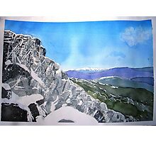 Mt Buffalo in Spring snow Photographic Print