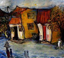 street in Hoi An Vietnam by glennbrady