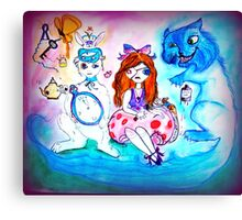 Alice and Friends Canvas Print
