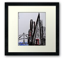 San Francisco Ink Framed Print