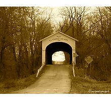 Covered Bridge - Central Indiana Photographic Print