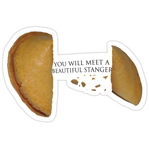 """Fortune Cookie (Compact) """"YOU WILL MEET A BEAUTIFUL STRANGER"""" by FlyNebula"""