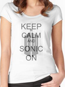 Keep Calm... Women's Fitted Scoop T-Shirt