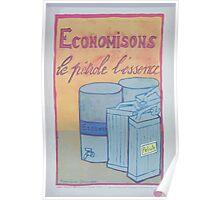 Économisons le pétrole lessence Poster