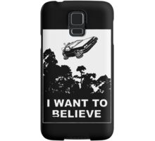 I Want To Believe in Delorean Flying Samsung Galaxy Case/Skin