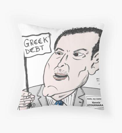 Greek Finance Minister caricature Throw Pillow
