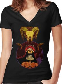 Nuns Have No Fun Women's Fitted V-Neck T-Shirt