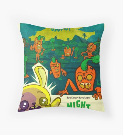 Night of the Living Carrot! Throw Pillow